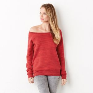Sponge fleece wide neck sweatshirt Thumbnail