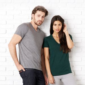 Unisex triblend v-neck t-shirt Thumbnail