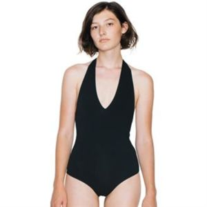 Women's cotton Spandex halter leotard (RSA8312) Thumbnail