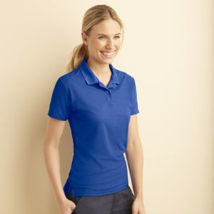 Women's performance double piqué sport shirt Thumbnail