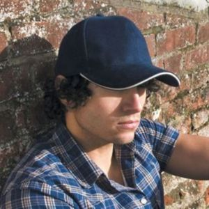 Pro-style heavy cotton cap with sandwich peak Thumbnail