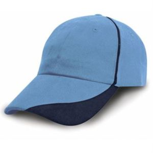 Heavy brushed cotton cap with scallop peak and contrast trim Thumbnail