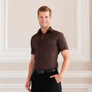 Short sleeve easycare fitted shirt Thumbnail
