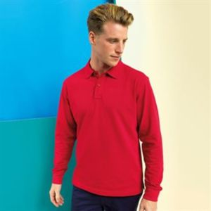 Men's classic fit long sleeved polo Thumbnail