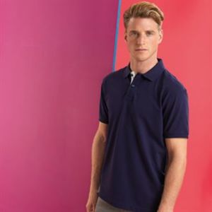 Men's classic fit contrast polo Thumbnail