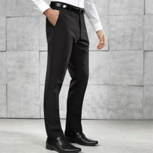 Slim fit polyester trousers Thumbnail